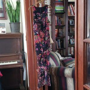 Floral Maxi Racerback Dress